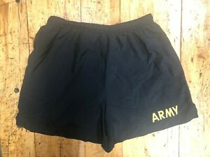 ALL SIZES US Army IPFU PT Shorts Black Physical Training Fitness Work Out UNISEX