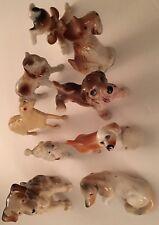 Vintage Bone China Dog Lot 9 Diff 1950's-80's Scotty Poodle Collie Borzoi Japan+