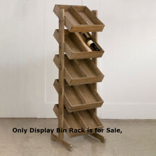 5 Tier Wooden Bin Display Rack 18.5 W x 17 D x 64 H Inches