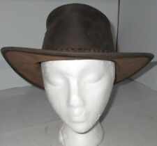 KAKADU Traders Australia THE PACKER Hat Leather Brown Great Used Large Outback