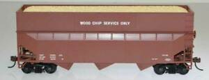 Bowser 57012 HO Scale 70 Ton Wood Chip Hopper Car Kit Dim Data Brown HH