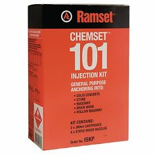Ramset CHEMSET 101 INJECTION KIT Fast Cure, Medium Duty Adhesive *Aust Brand