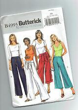 BUTTERICK pattern B4995 Pants flat front side fasten Sz 8 10 12 14 unused