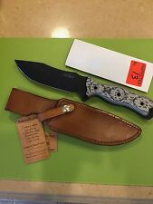 Busse Tank Buster Infi with Amoralleather Sheath NEW Black/Tan G10
