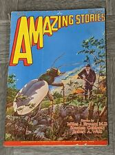 Amazing Stories June 1928 Rare Bedsheet Pulp! Cool Cover Scientifiction Vintage