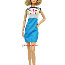 Barbie 2016 Fashionistas Blue & White Star59 Dress NO DOLL