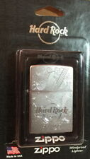 Hard Rock Hotel ORLANDO 2017 Silver Etched Guitar ZIPPO Lighter New Box +Sticker
