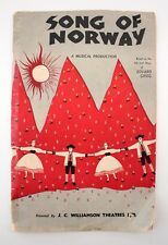 Song of Norway 1950 Melbourne His Majestys Theatre Doreen Wilson Charles Dorning
