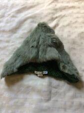 Natalia Simonian Wool Knit And Fur Pull On Cap Hat Women's Hood Style