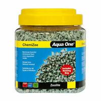 Aqua One Chemizee Zeolite Aquarium Fish Tank Filter Media Ammonia Reduction 500g