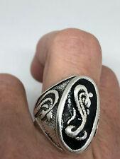 Snake Serpent Cobra Men's Ring Silver White Bronze Size 6.25