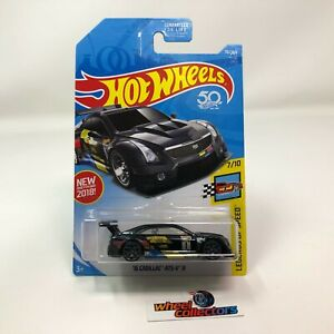 '16 Cadillac ATS-V R #70 * BLACK * 2018 Hot Wheels * WC10