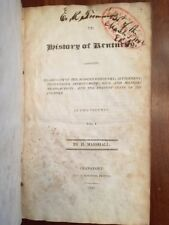 RARE 1824 History of KENTUCKY, Civil & Military, Discovery Settlement, Marshall
