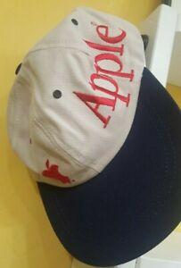 Vintage Apple Computer Logo Embroidered Baseball Cap Hat Adjustable Khaki