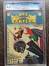 GREEN LANTERN COMICS #37 CGC VF 8.0; CM-OW; very rare in high grade!