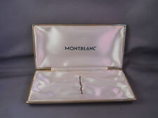 Mont Blanc vintage tan set box with green imprint on inside