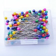 Pearlized Bead Pins Rosette Craft Dress Maker Sewing Scarf Needlework  Mixed 200