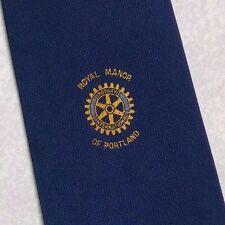 Corbata de Rotary International Royal Manor de Portland Vintage Retro Club Asociación