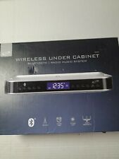 New listing Bluetooth Under Cabinet Music System w/ Lcd display space saver timer light