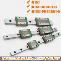 7mm Miniature Linear Rail Guideway MGN7R+2pc MGN7C Block Carriage CNC DIY Kit