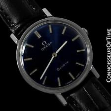 1974 OMEGA GENEVE Vintage Mens Midsize Handwound Ultra Thin Dress Watch - Steel