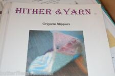 Hither & Yarn Origami Felted Slippers Knitting  Pattern