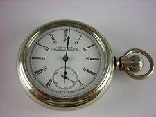 Antique 18s Waltham Crescent St. Rail Road pocket watch 1895. Canadian dial, 21j