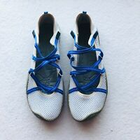 J-41 Barefoot Design Shoes Womens White Mesh Outdoor Water Mary Janes Sz. 7M