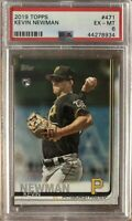 2019 Topps #471 Kevin Newman Rookie PSA 6 Ex-Mint Condition Pirates RC