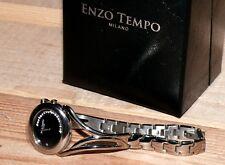 ENZO Tempo Damen Elegant Uhr Armbanduhr Titan 20x glanz Steine 1763678 16cm