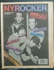 New York Rocker mag #37 March '81 Pylon, Athens update, Blasters, Monochrome Set