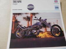 TRIUMPH CHOPPER   1990  FICHE MOTO CARD 14X14 CMS