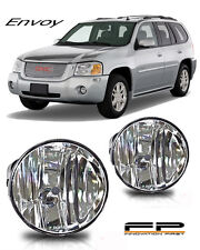 2002-2008 GMC Envoy Replacement Fog Lights Clear Lens Housing Bumper Lamps PAIR