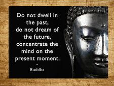 Metal Sign meditate Buddha quote metallic decorative tin wall door plaque gift