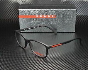 PRADA LINEA ROSSA PS 04IV DG01O1 Black Rubber Demo Lens 55 mm Men's Eyeglasses
