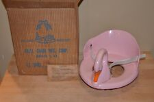 1940's-50's Vintage Pink Swan Child's Training POTTY CHAIR TOILET SEAT Abell Co