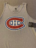 NWT Montreal Canadiens Gray Reebok NHL Tank Top shirt Size XL