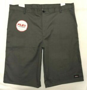 NWT MENS SIZE 42 DICKIES GRAY FLEX RELAXED FIT MOISTURE WICKING WORK SHORTS