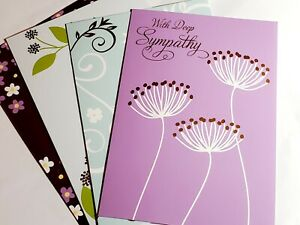 Sympathy Greeting Card Lot Of 4 With Envelopes