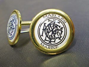 Marconi Marine, Marconi's Wireless Telegraph Company, Gold Plated Cufflinks.
