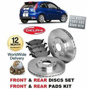 FOR FORD FIESTA ST150 2004-2009 FRONT & REAR BRAKE DISCS SET & DISC PADS KIT
