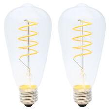 2x mbar LED E27 4W ST64 Spiral Filament Glühbirne Edison Vintage Glühlampe 2200K