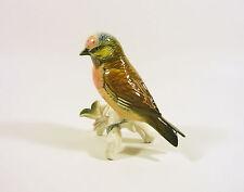 """KARL ENS EXOTIC SINGER BIRDS 4.5"""", VINTAGE HANDPAINTED PORCELAIN FIGURINE !"""