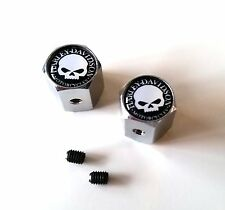 Harley Davidson Skull Ventilkappen Chrom 2 Stück Reifenventil