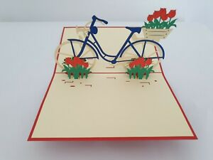 3d Popup Flower Bicycle Card