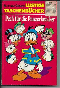 ERSTAUFLAGE Lustige Taschenbücher Nr.19 von 1972 - Pech für die Panzerknacker