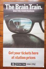 1968 The Brain Train Inter City Intercity Original Railway Travel Poster