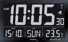 FUNKUHR TECHNOLINE WS 8007 - UHR MIT JUMBO LCD FÜR BÜRO HOTEL BAHNHOF FOYER XXL