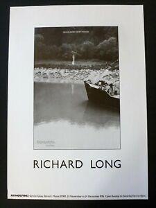 RICHARD LONG River Avon Driftwood    1976 RARE ART EXHIBITION POSTER