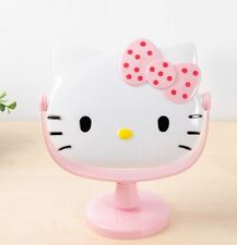 New 1pcs Hello Kitty Stand Cosmetic Mirror Make Up Mirror Light Pink with dots